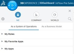 Clicking the 3D Compass opens your different options.
