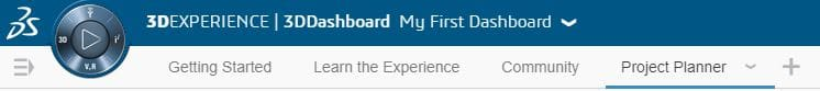 We can create new tabs in the 3DExperience Platform. These tabs are how we navigate our dashboards