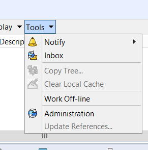 Image 1, The Location of the Administration Tool from within windows file explorer.