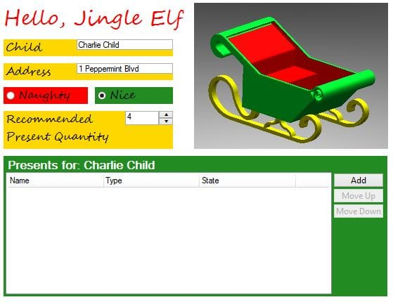 group projects together with a Christmas dashboard