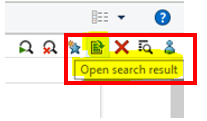 Save your search results as Excel when working from home so you can still find what you need.